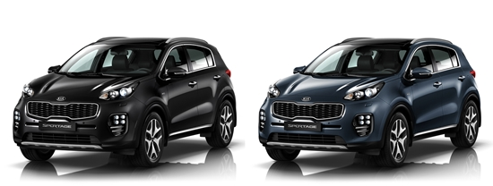 Kia Sportage Colors Cherry Black Mercury Blue