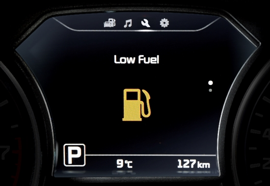 Kia Information Cer Low Fuel Warning Lights Indicator